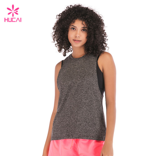 China Factory Wholesale Fitness Wear Manufacturer Womens Custom Dry Fit Tank Top Supplier