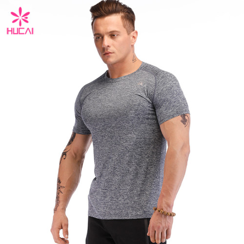 Wholesale China Supplier Quick Dry Gym Sport Wear Mens Custom T Shirt Manufacturer