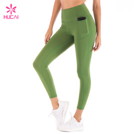 Custom China Supplier Nylon Spandex Side Pocket Leggings Women Wholesale Gym Wear Manufacturer