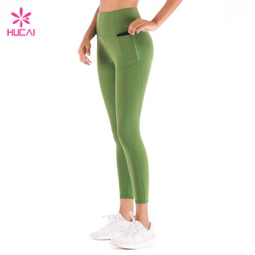 Custom China Supplier Nylon Spandex Side Pocket Leggings Women Wholesale Gym Wear Manufacturer