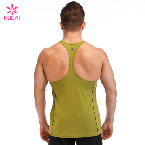 China Manufacturer Custom Tank Top Slim Fit Mens Stringer Singlet Supplier