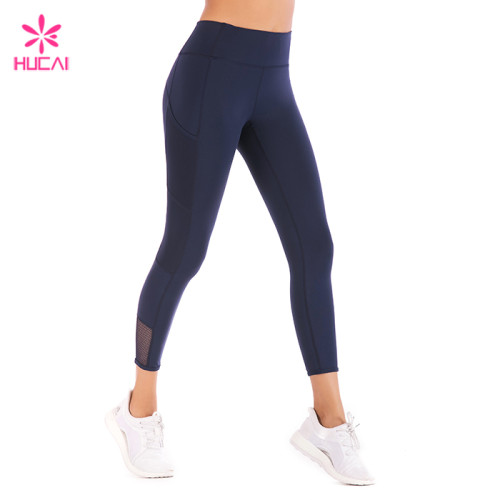 China Manufacturer Side Pockets Leggings Gym Wear Women Athletic Apparel Wholesale Suppliers