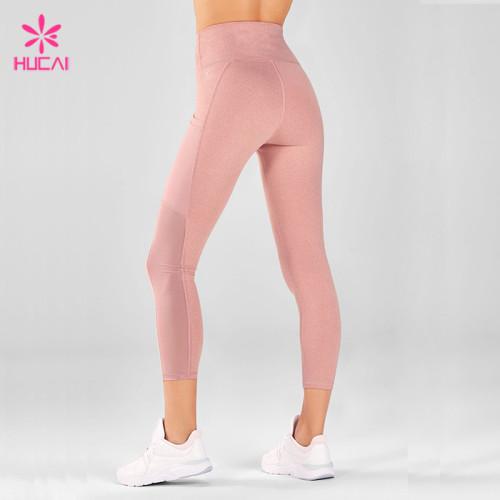 Wholesale Supplier Gym Apparel Capri Leggings Women Mesh Cheap Fitness Clothes Online With Pockets