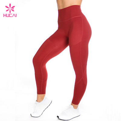 Custom Manufacturer High Rise Leggings 4 Way Stretch Wholesale Women's Workout Apparel