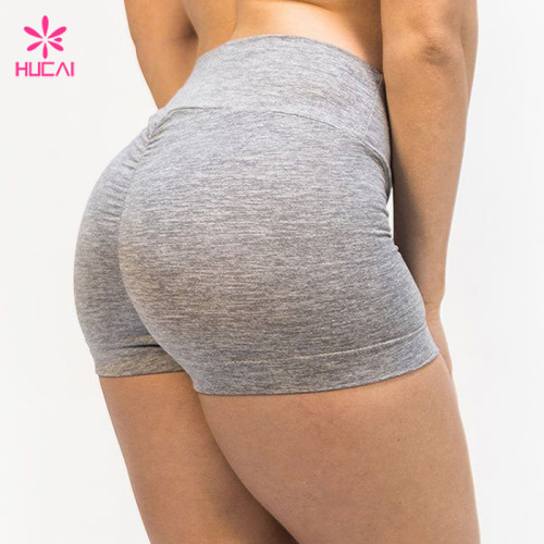 China Supplier High Waisted Gym Fitness Wear Custom Printing Women Booty Shorts Manufacturer