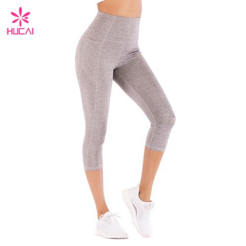 Custom Sportswear Supplier Capri Yoga Leggings 4 Way Stretch Wholesale Leggings Women China