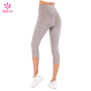 Custom Sportswear Supplier Capri Yoga Leggings 4 Way Stretch Wholesale Leggings Women China