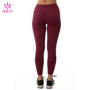 Wholesale Manufacturer Women Sexy Mesh Insert Custom Logo Yoga Leggings
