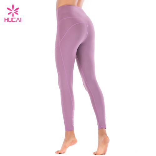 Wholesale Nylon Spandex Leggings With Side Pocket Custom Women Sports Wear Manufacturer