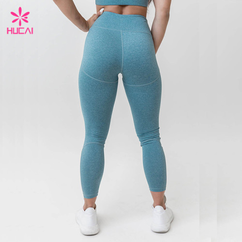 Wholesale Yoga Wear Manfauctrer Nylon Spandex High Waisted Sports Tights For Women