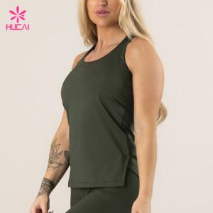 China Manufacturer Cheap X Back Knitted Women Blank Custom Tank Top Gym
