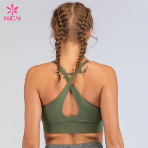 China Gym Wear Supplier Nylon Spandex Buy Cheap Wholesale Sports Bra Top