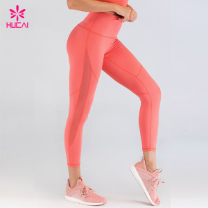China Fitness Clothing Manufacturers Custom Spandex Workout Yoga Pants Wholesale Running Tights