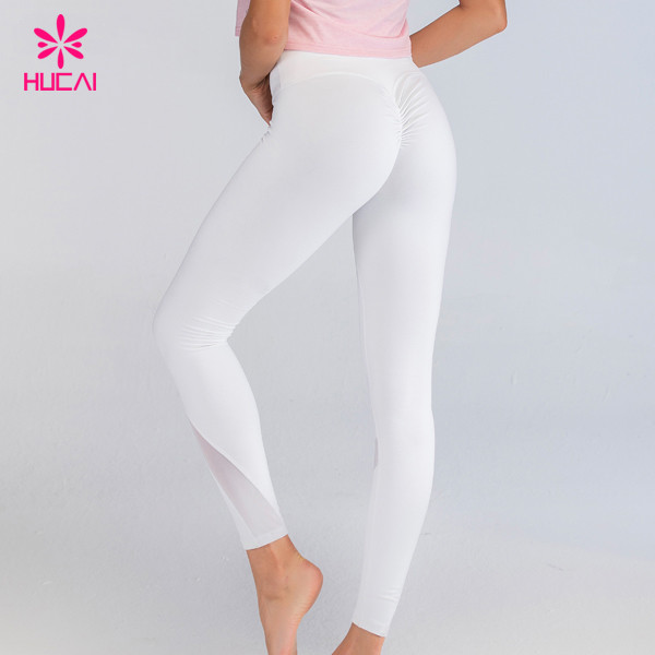 Mesh Panel Butt Lift Scrunch Yoga Pants Leggings Manufacturer