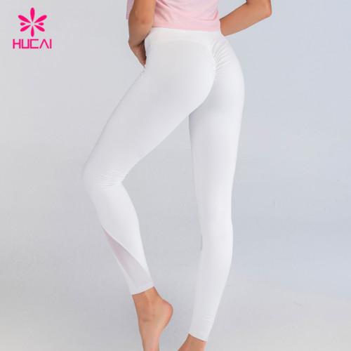 Wholesale Sports Apparel Scrunch Butt Custom Logo Yoga Pants Non See Through Leggings Manufacturer