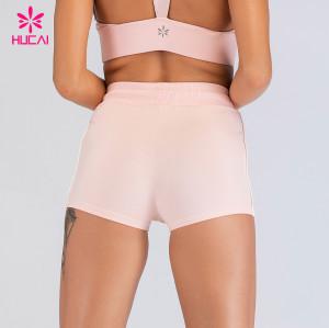 China Custom Activewear Manufacturers Running Workout Nylon Yoga Gym Shorts