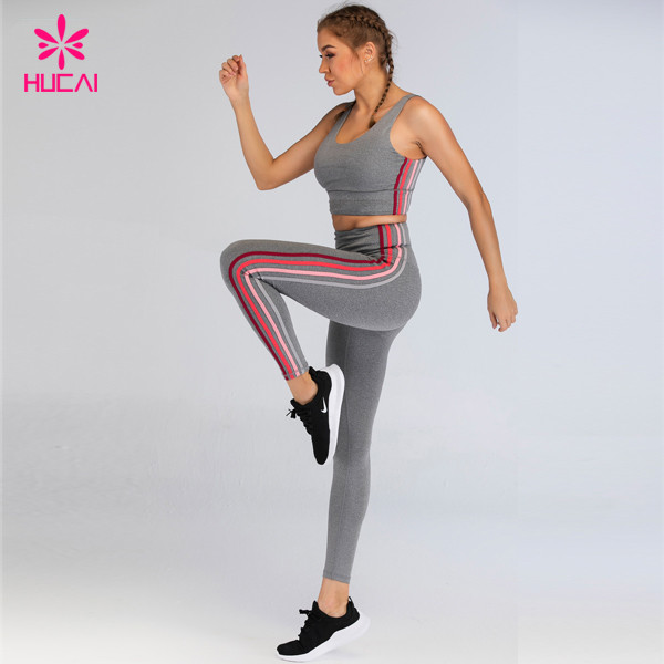 Hucai Sportswear Private Label Fitness Clothing Custom Womens Sport Yoga Set Manufacturer