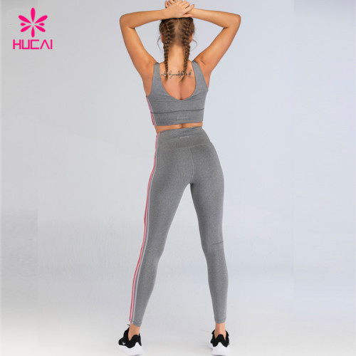 Hucai Sportswear Private Label Fitness Clothing Custom Womens Sport Yoga Set Manufacturer