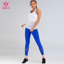 China Private Label Fitness Apparel Sport Leggings And Tank Top Yoga Sets Custom Running Suit