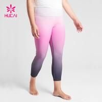 China Manufacturer Wholesale Yoga Pants Plus Size Women Ombra Gym Leggings