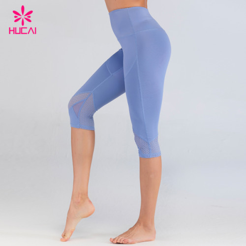 Dongguan Private Label Activewear Wholesale Dri Fit Running Gym Tights Custom Yoga Capris