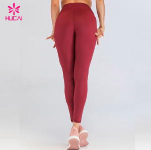 China Wholesale Sports Clothing Women Custom Print Yoga Pants Private Label Workout Legging