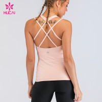 Private Label Yoga Wear Workout Clothes Woman Custom Gym Singlet Strappy Tank Top
