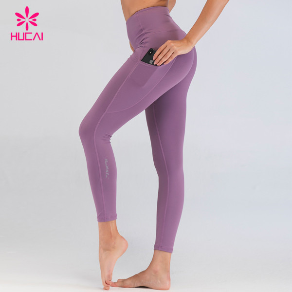 Wholesale Activewear Yoga Wear Custom Made Yoga Pant With Pockets Tummy Control Custom Fit Leggings