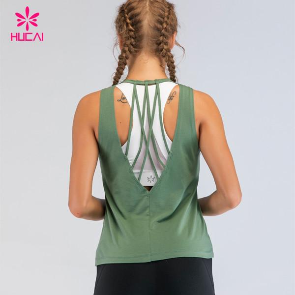 China Yoga Sportswear Wholesale Custom Design Running Singlet Women Gym Tank Top Manufacturer