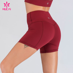 Private Label Sportswear Dri Fit Running Yoga Shorts Wholesale Custom Printed Gym Booty Shorts For Women