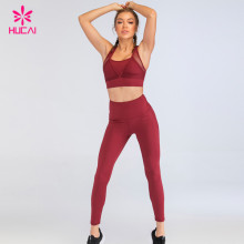 Sports Clothing Manufacturers Custom Activewear Private Label Sports Bra And Yoga Pants Legging Sets