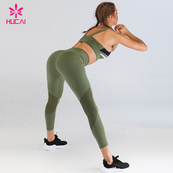 High support fitness bra and leggings set