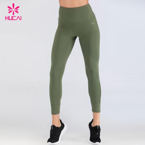 Custom Printed Gym Wear 86 Nylon 14 Spandex Wholesale Workout Gym Leggings