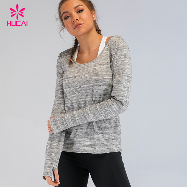 women gym shirts with thumb hole