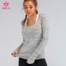 Wholesale Tri Blend Activewear Gym Clothing Loose Fit Custom Workout Running Yoga Shirts
