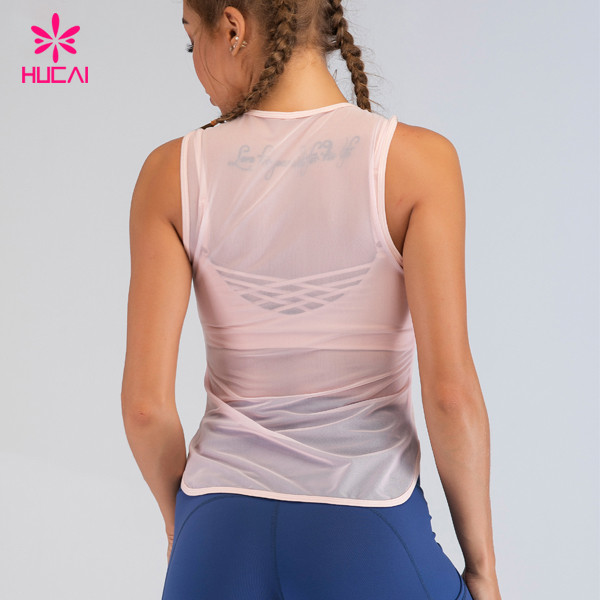sexy mesh transparent tank tops for women