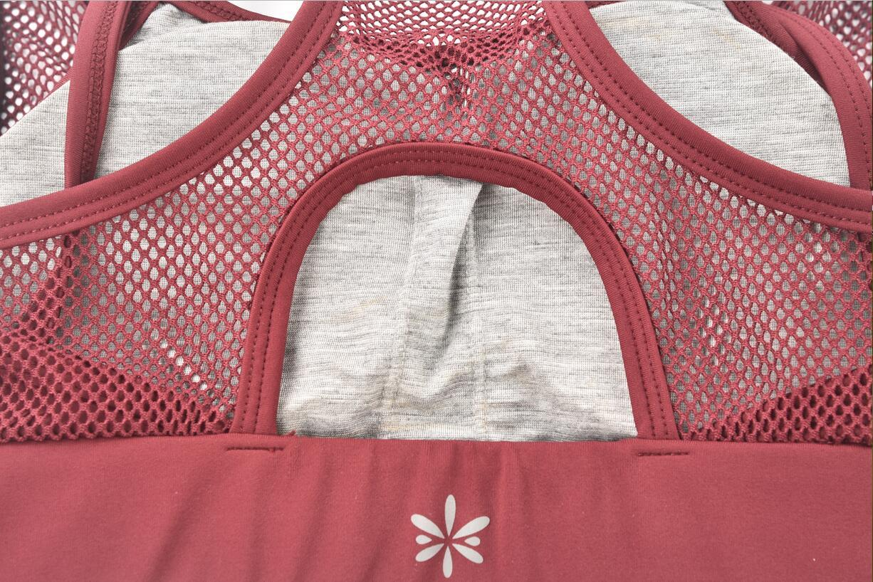 Custom logo elastic yoga bra