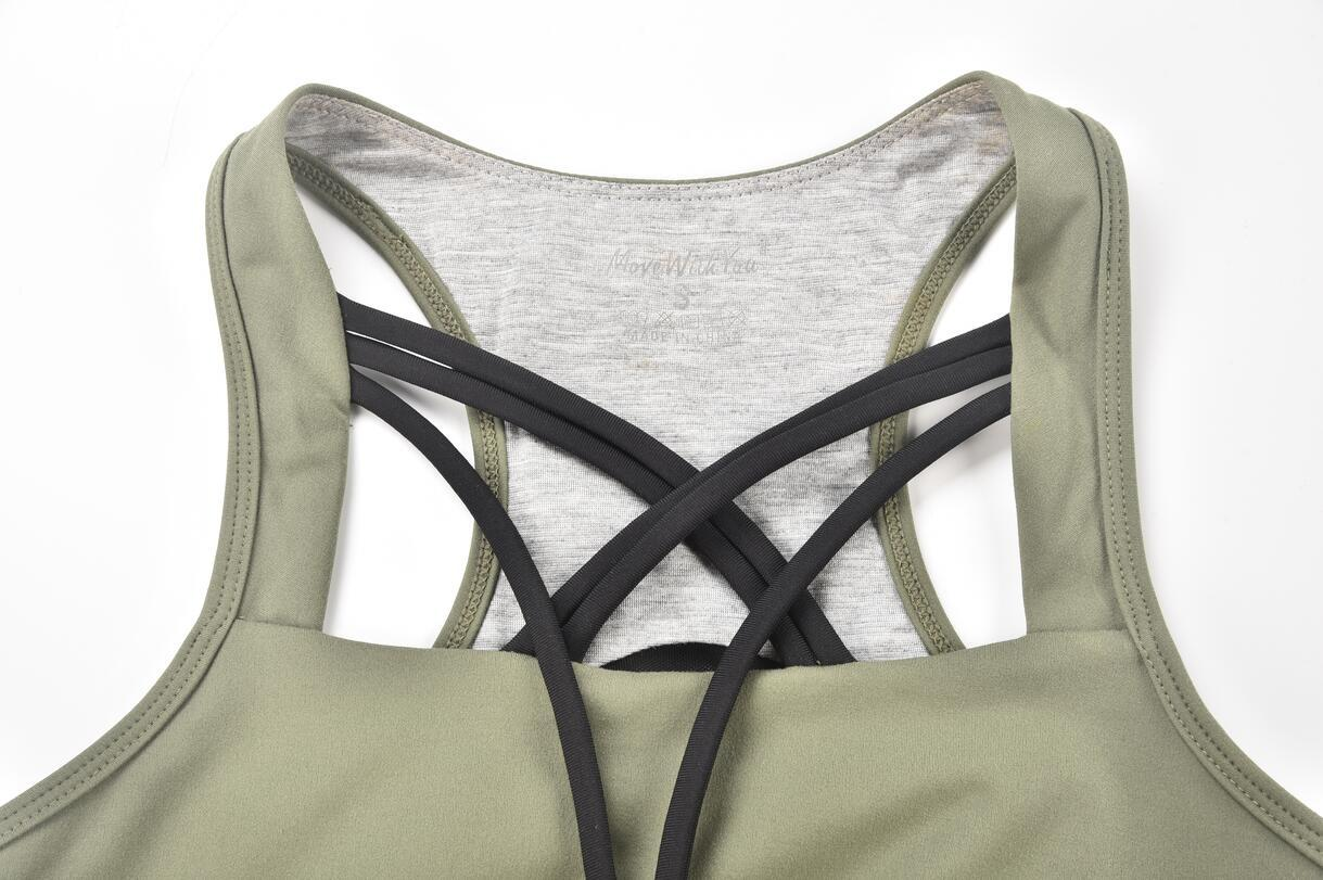 Hucai Wholesale Sports Bra Front Detail