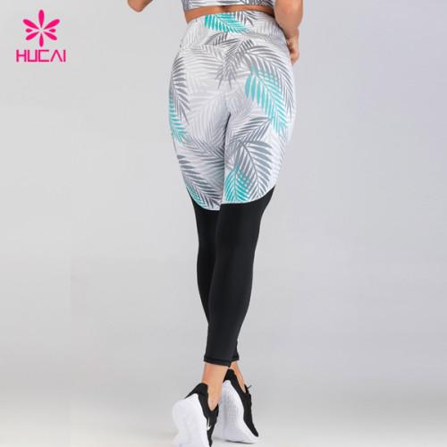 Private Label Workout Clothes Custom Design Sublimation Printed Yoga Pants Leggings Wholesale