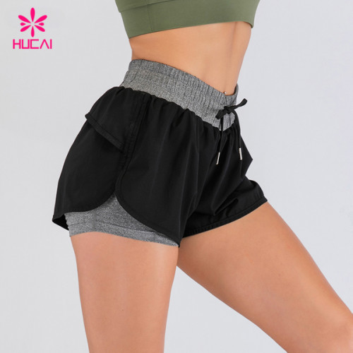 Wholesale Workout Clothes Nylon Lining Dry Fit Women Sport Running Gym Shorts