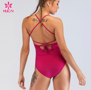 2019 Custom Beachwear Bodysuit Private Label Womens Plus Size  Bikini One Piece Swimwear Wholesale