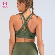 Custom Fitness Apparel Women Pro Fit Clothing Cross Back Shock Absorber Padded Sports Bra