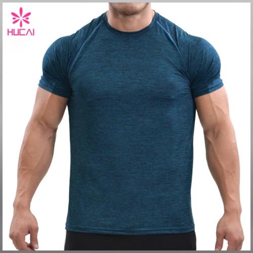 Wholesale T Shirt Gym Clothing Men Short Sleeve Training Top