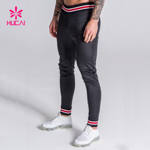 Bulk Fleece Cheap Blank Men's Skinny Jogger Sweatpants Wholesale