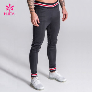 Bulk Fleece Cheap Blank Men's Skinny Jogger Sweatpants Wholesale