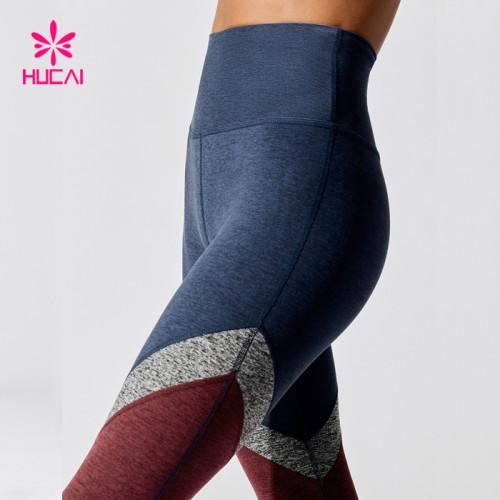 China Factory High Waist Nylon Spandex Women Leggings Yoga Pants Wholesale