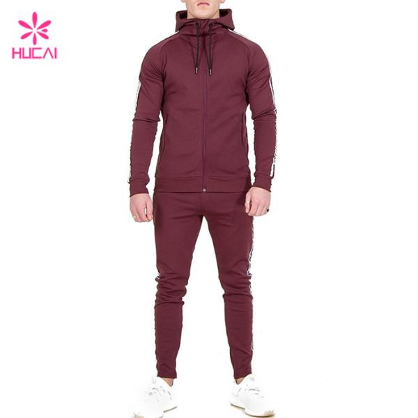 Wholesale Slim Fit Mens Sport Suits-China Tracksuit Manufacturer