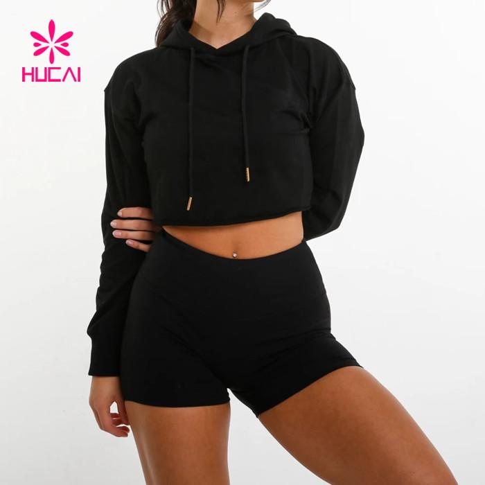 wholesale crop top hoodie