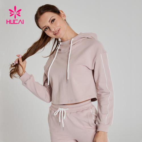 Women Wholesale Long Sleeve Crop Top Hoodie Sweatshirts-Low MOQ & Bulk Price