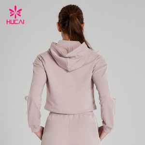 Women Wholesale Long Sleeve Crop Top Hoodie Sweatshirts-Low MOQ & Bulk Price
